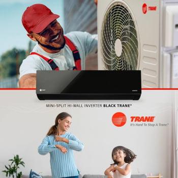 Ar-Condicionado Mini Split Hi-Wall INVERTER BLACK TRANE